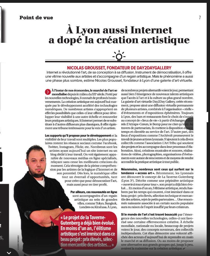 La Tribune de Lyon - 27/10/2016