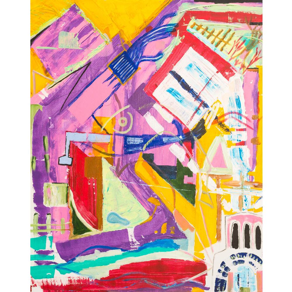 peinture contemporaine abstraite colorée art naif