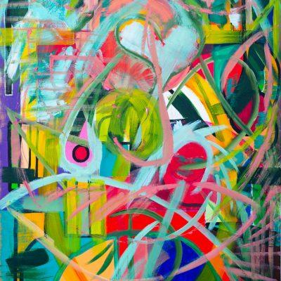 toile colorée abstraite artiste emergent