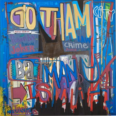 art contemporain popart Gotham City tarek ben yakhlef drouot