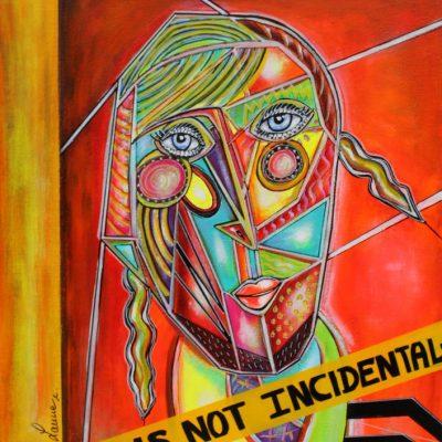 art contemporain peinture colorée portrait cubisme