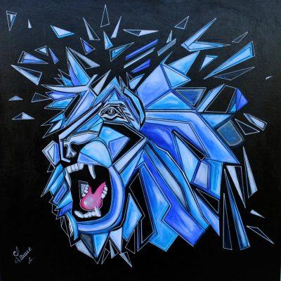 art contemporain peinture d'animal peinture animalière cubisme cubism cubismo lion