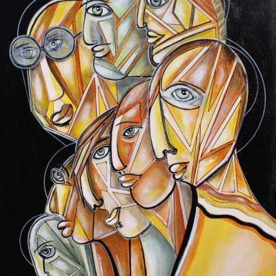 art contemporain céline lanne art figuratif personnages mystiques