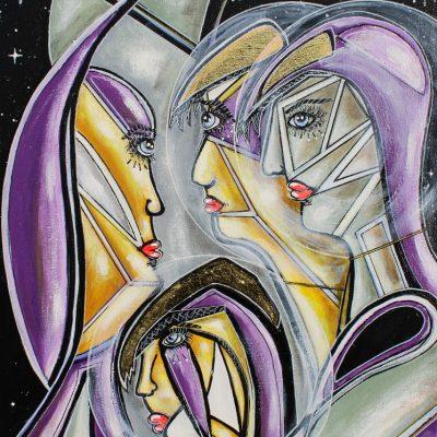 art contemporain peinture contemporaine oeuvre d'art cubisme scène mystique